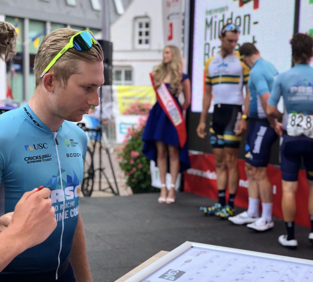 Cameron Scott claims 2nd in Melle Pro Kermesse in Belgium.