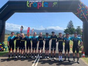 ARA Pro Racing Sunshine Coast Riders line up for the Tour of the Tropics